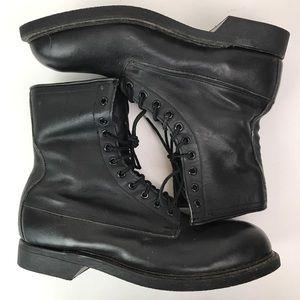 vintage wolverine leather steel toe boots